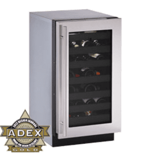 "Stainless Left-hand, lock model Modular 3000 Series / 18"" Wine Captain® /Single Zone Convection Cooling System"