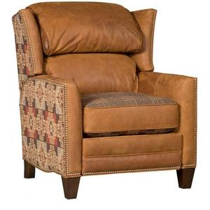 Santorini Leather Fabric Recliner