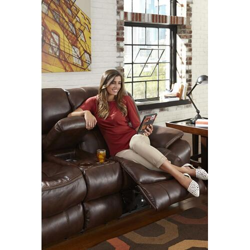 Reclining Console Loveseat w/Storage, Cupholders, USB