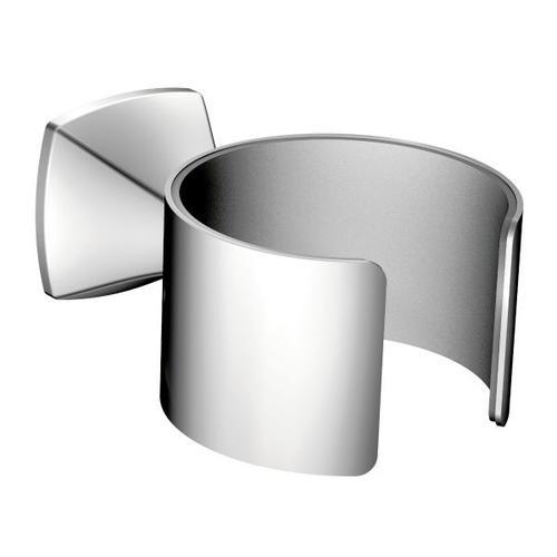 Voss chrome hair dryer holder