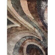 Designer Shag S.V.D. 26 Area Rug by Rug Factory Plus - 2' x 3' / Earth