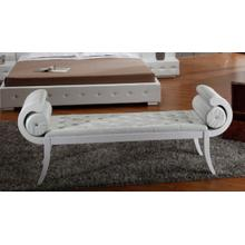 Divani Casa Monte Carlo White Leatherette Bench