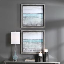 Aqua Horizon Framed Prints, S/2