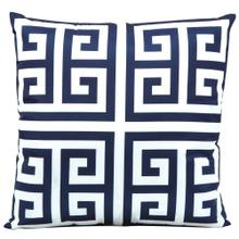 "Outdoor Pillows As047 Navy 20"" X 20"" Throw Pillow"