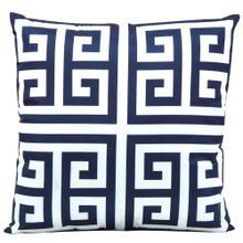 """Outdoor Pillows As047 Navy 20"""" X 20"""" Throw Pillow"""