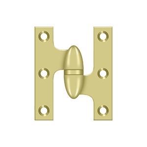 "Deltana - 2-1/2"" x 2"" Hinge - Polished Brass"