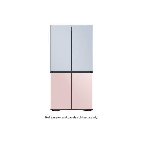 Samsung - BESPOKE 4-Door Flex™ Refrigerator Panel in Rose Pink Glass - Bottom Panel