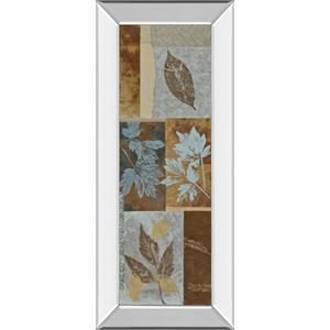 """Blue Fusion Panel I"" By Jeni Lee Mirror Framed Print Wall Art"