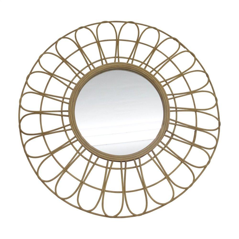 "36"" Rattan Mirror, Natural Wb"