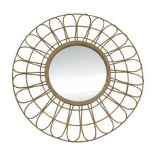 "36"" Rattan Mirror, Natural Wb"