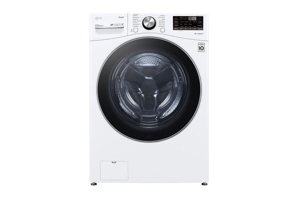LG Appliances5.0 Cu. Ft. Mega Capacity Smart Wi-Fi Enabled Front Load Washer With Turbowash™ 360(degree) And Built-In Intelligence