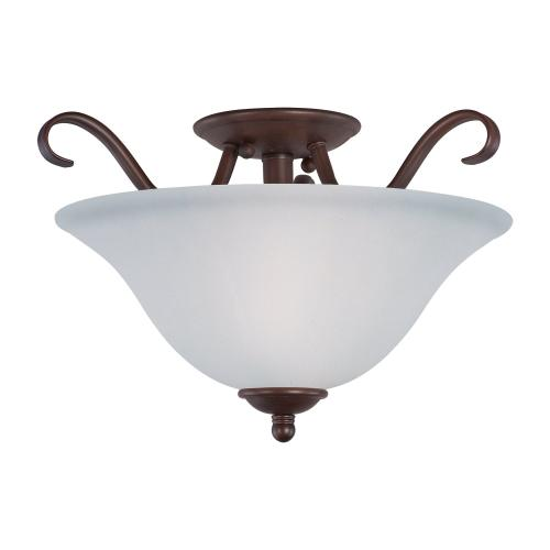 Basix 2-Light Semi-Flush Mount