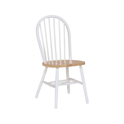 Windsor Chair in Natural & White