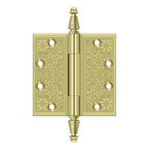 "4-1/2"" x 4-1/2"" Square Hinges - Polished Brass"
