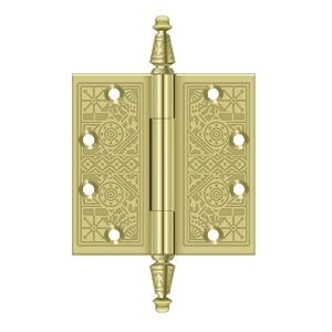 """Deltana - 4-1/2"""" x 4-1/2"""" Square Hinges - Polished Brass"""