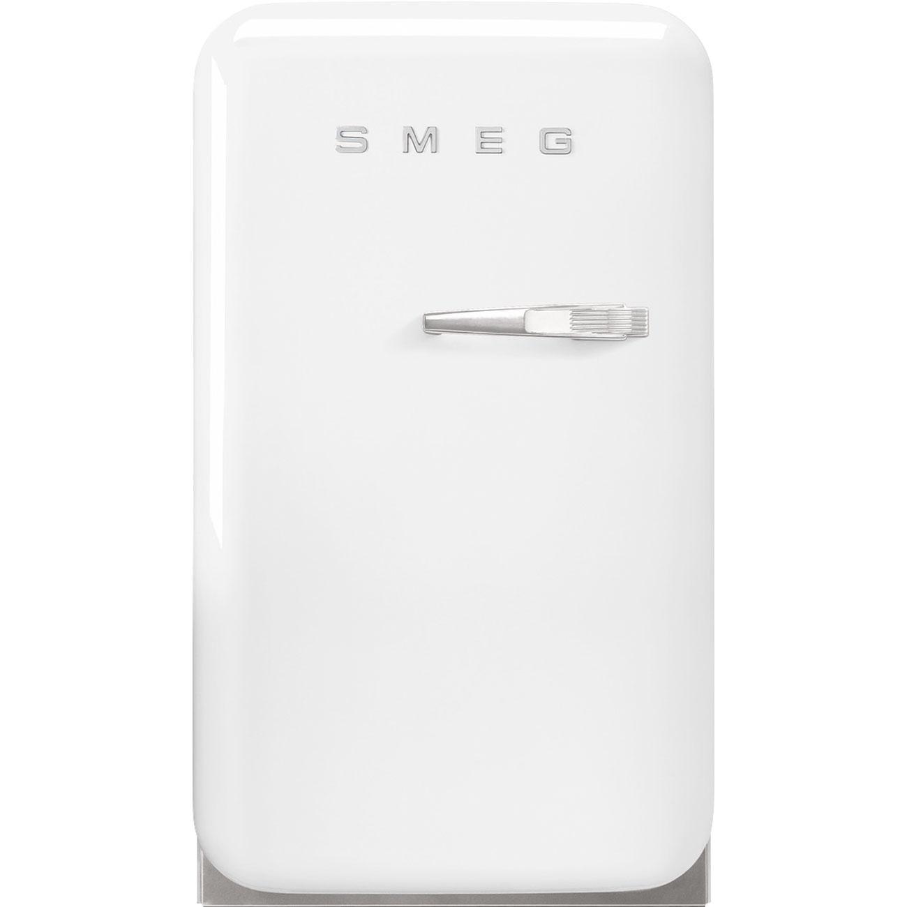 SmegRetro-Style Mini Refrigerator, Left-Hand Hinge, White