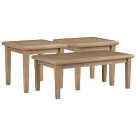 See Details - Outdoor Coffee Table With 2 End Tables