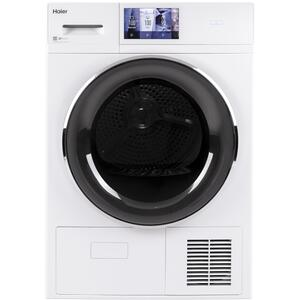 """Haier4.1 cu.ft. Capacity Smart 24"""" Ventless Condenser Frontload Electric Dryer with Stainless Steel Basket"""