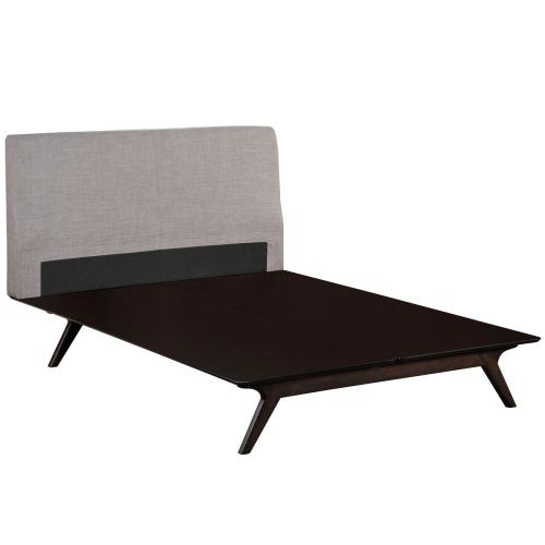 Tracy King Bed in Cappuccino Gray