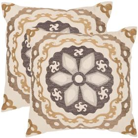 Thea Pillow - Taupe / Gold
