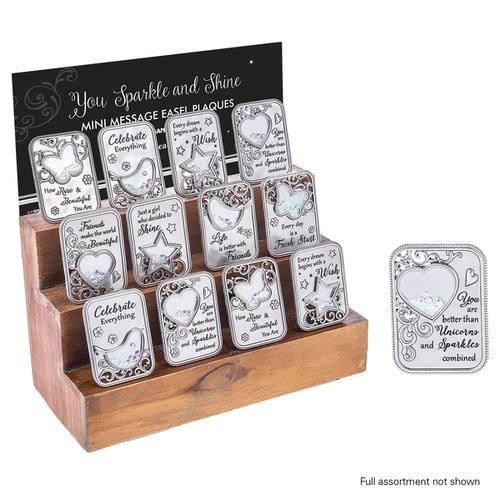 You Sparkle and Shine Mini Message Plaques Assortment (32 pc. assortment)