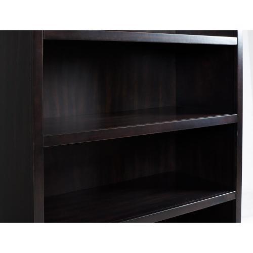 Clinton Hill - Open Bookcase - Kohl Black Finish