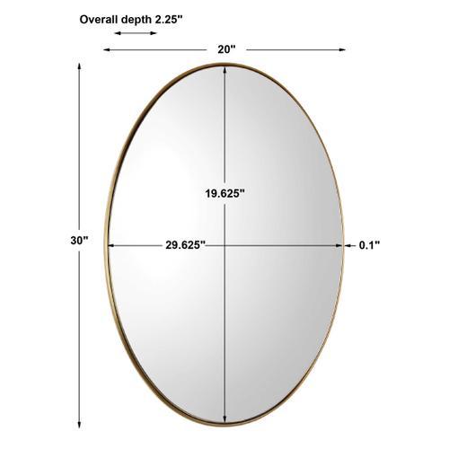 Pursley Brass Oval Mirror