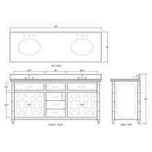 See Details - Grosvenor Double Vanity w/ Sink & Marble Top