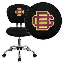 Bethune-Cookman University Wildcats Embroidered Black Mesh Task Chair with Chrome Base
