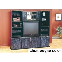 See Details - TV STAND - CHAMPAGNE / BRASS WALL UNIT