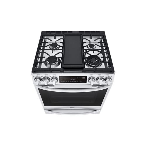 LG - 6.3 cu ft. Smart Wi-Fi Enabled ProBake Convection® InstaView™ Gas Slide-in Range with Air Fry