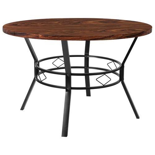 "Tremont 47"" Round Dining Table in Swirled Chocolate Marble-Like Finish"