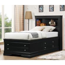 See Details - Black LP Storage Bed - Full