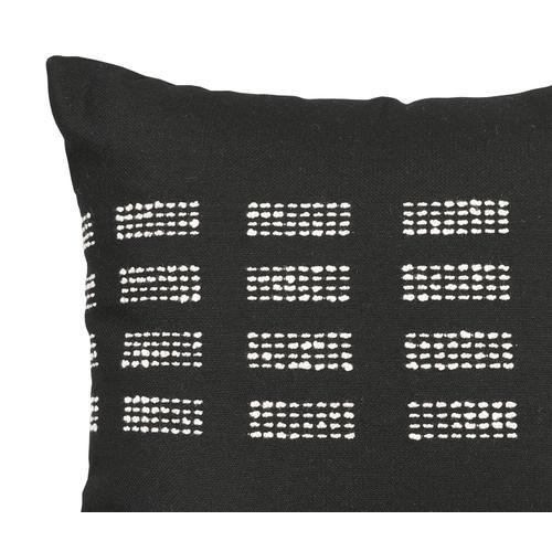 "Boundary Onyx 18"" x 18"" Pillow"