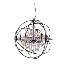 See Details - Geneva 6 light Dark Bronze Chandelier Golden Teak (Smoky) Royal Cut crystal
