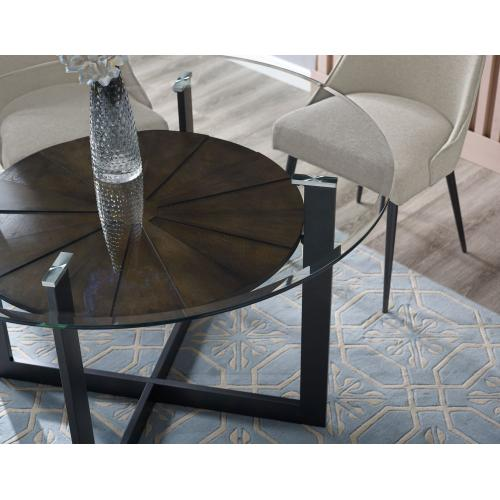 Olson 48 inch Round Glass Top Table