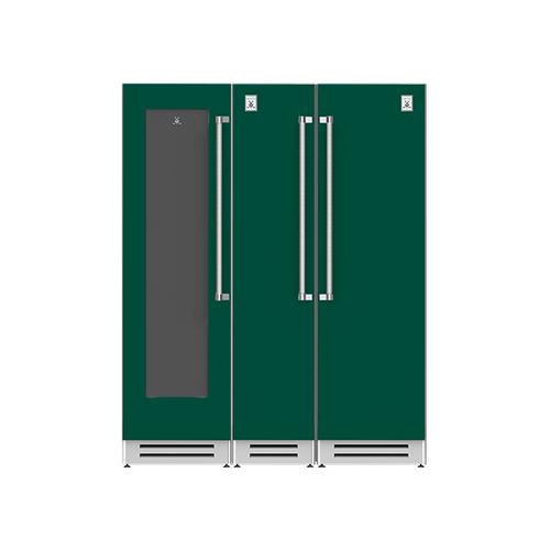 "Hestan - 66"" Wine Cellar (L), Column Freezer and Refrigerator ® Ensemble Refrigeration Suite - Grove"