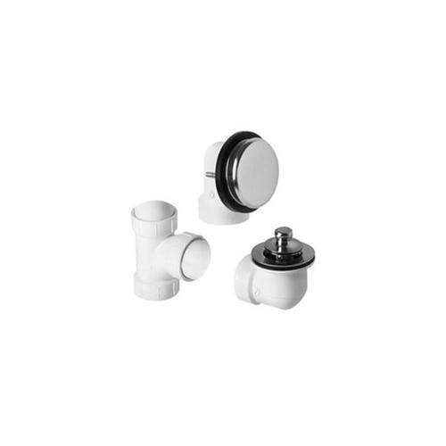Mountain Plumbing - PVC Plumber's Half Kit with Deluxe Lift & Turn Trim (Designer Face Plate) - PVD Brushed Bronze