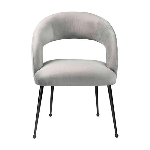 Rocco Slub Grey Dining Chair