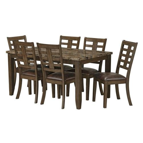 Canaan Brown 7-Pack Table And Chairs