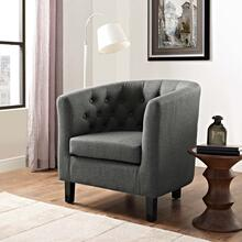 Prospect Upholstered Fabric Armchair in Gray