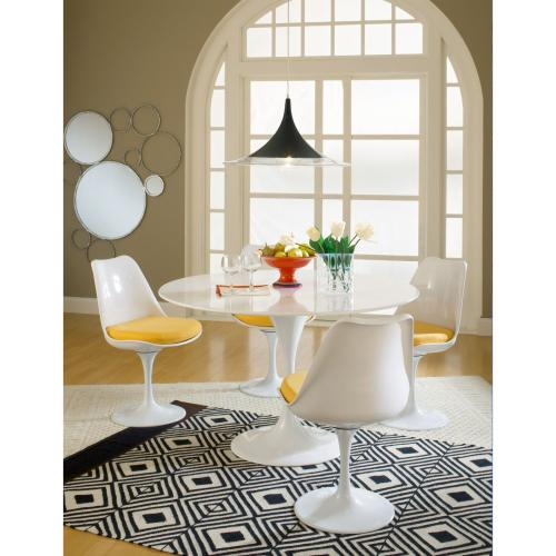 Lippa Dining Fabric Side Chair in Yellow