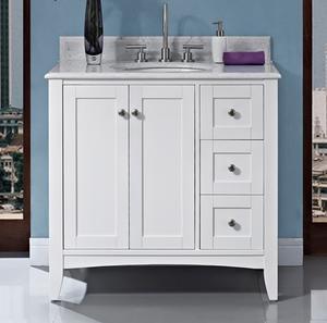 "Shaker Americana 36"" Vanity Drawer - right - Polar White Product Image"