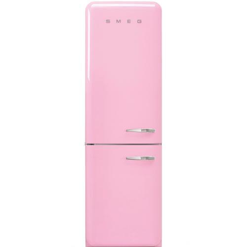 Smeg 50's Retro Style Refrigerator Bottom Freezer 60Hz Left Hinge Pink, 24-Inch