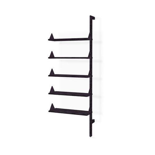 Branch Shelving Unit Add-On Black Uprights Black Brackets Black Shelves
