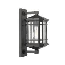 Medium Coach Light - Textured Black - Clear Seeded Glass