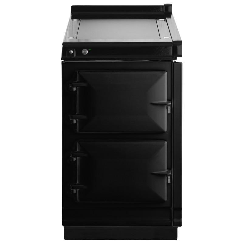 """AGAAga Hotcupboard 20"""" Electric Black With Stainless Steel Trim"""