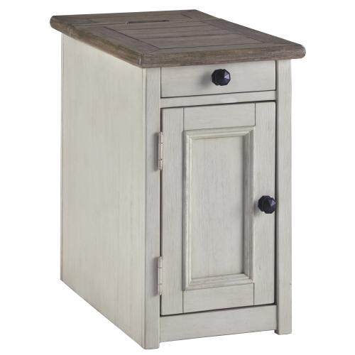 Signature Design By Ashley - Bolanburg Chairside End Table With Usb Ports & Outlets
