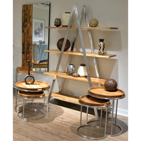 Etagere Shelves - Glossy Acacia Finish