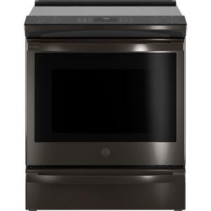 """GEGE Profile™ 30"""" Smart Slide-In Front-Control Induction and Convection Range with No Preheat Air Fry"""